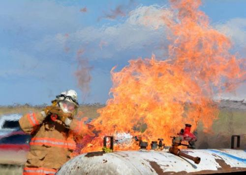 GRRFD Propane Fire Education at Madison Valley Fire Academy