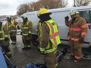 Motor Vehicle Extrication Training with Manhattan Volunteer Fire Department